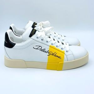 NIB DOLCE & GABBANA Portofino Stripe Sneakers